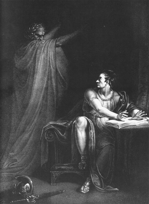 The ghost of Caesar appears to Brutus
