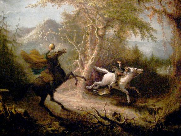 Ichabod Crane meets the headless horseman