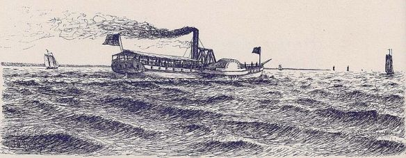 The United_States, a steamboat on the Hudson, 1821